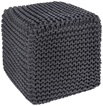 Awesome Redearth Square Footrest Poof Stool Accent Pouffe Seat For Living Room Bedroom Nursery Kids Room Patio Lounge Gym 100 Cotton 16X16X16 Dark Evergreenethics Interior Chair Design Evergreenethicsorg