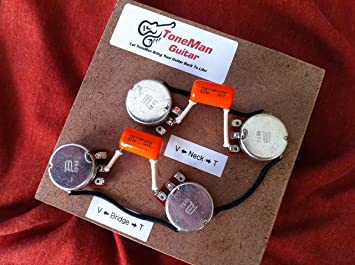 A1jocSrL88L._SX355_ amazon com les paul usa gibson prewired 50s wiring harness, long gibson les paul wiring harness at couponss.co