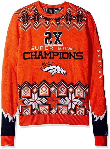 10b5155d3 FOCO NFL Denver Broncos Men s Super Bowl Commemorative Crew Neck Sweater