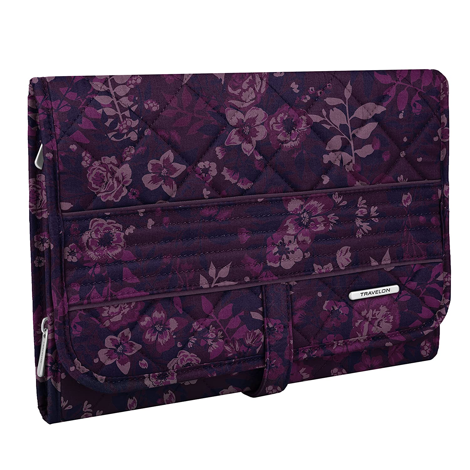 Travelon 33213 32X Boho Trifold Hanging Toiletry Kit, Summer Paisley, One Size TRBO3