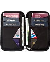 Travel Wallet & Family Passport Holder w/ RFID Blocking- Document Organizer Case
