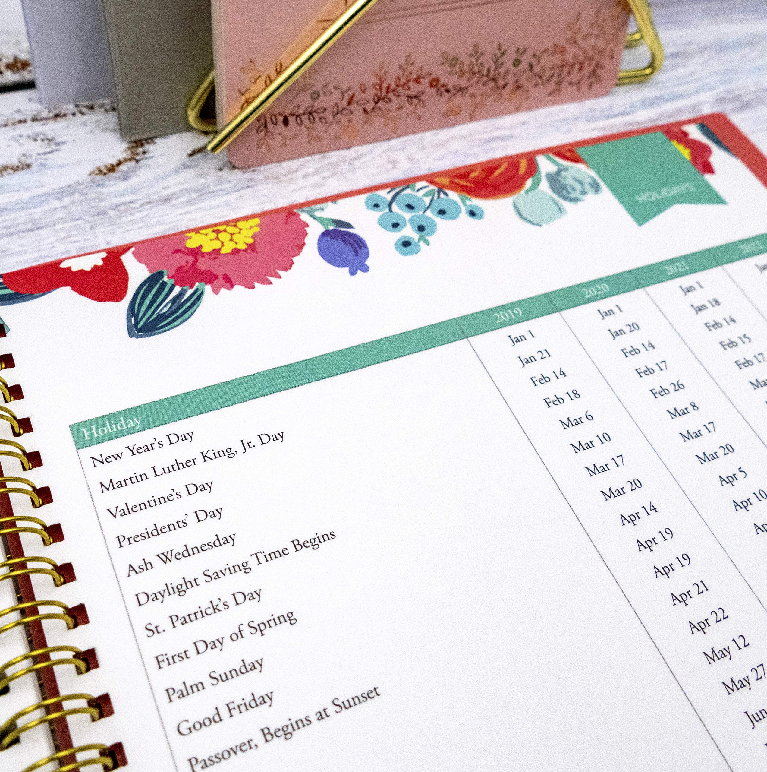 Day Designer for Blue Sky 2019-2020 Academic Year Weekly & Monthly Planner, Flexible Cover, Twin-Wire Binding, 8.5'' x 11'', Floral Sketch by Blue Sky (Image #7)