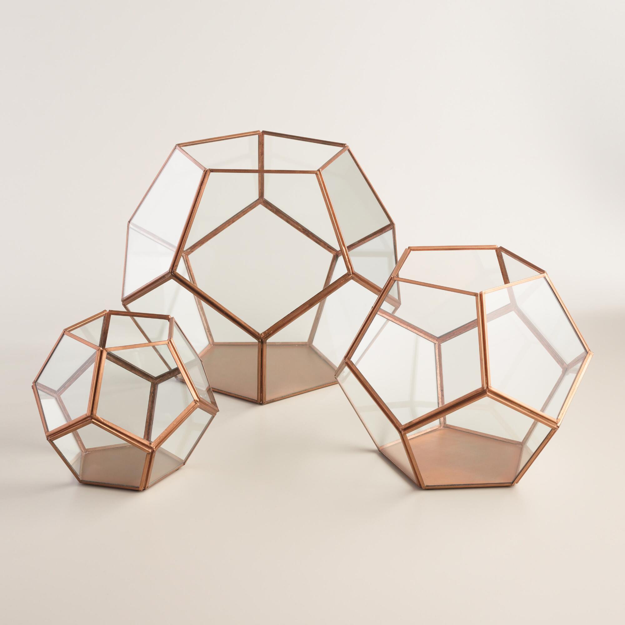Copper Geo Terrarium | World Market
