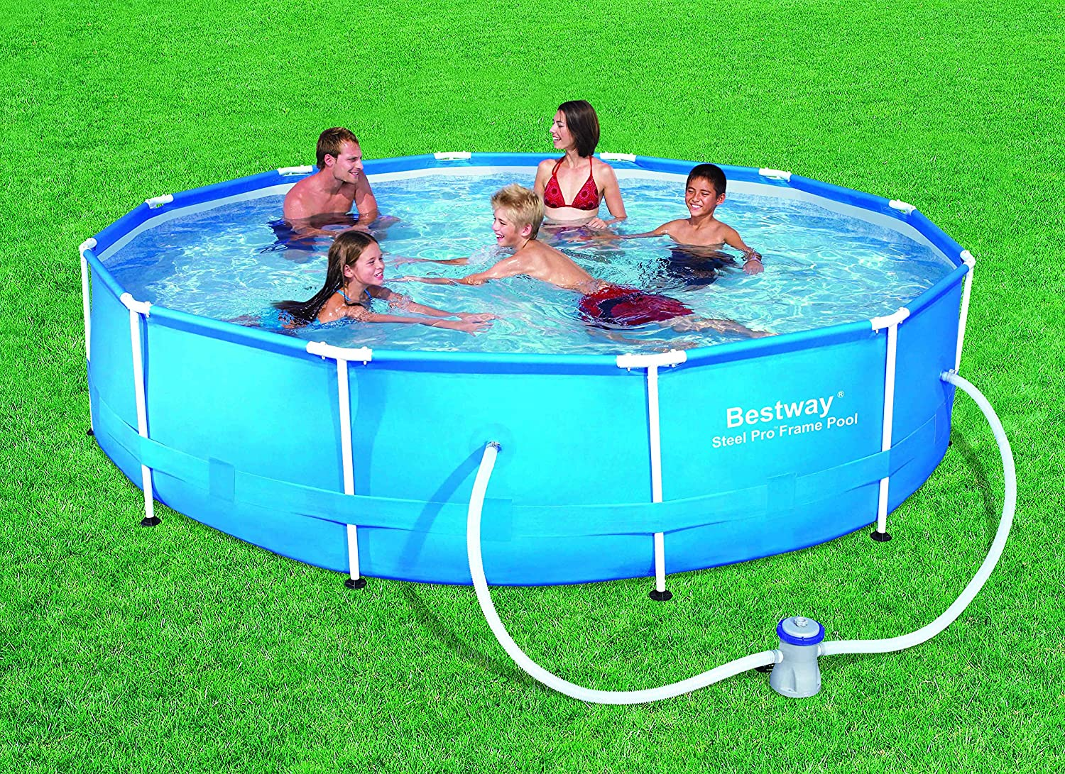 Bestway 56416 - Piscina Desmontable Tubular Steel Pro Max 366x76 ...