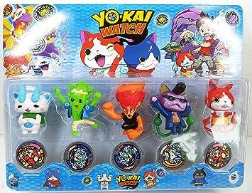 Set de 5 Figuras y 5 Medallas Inspiradas en YO-KAI.: Amazon.es: Juguetes y juegos