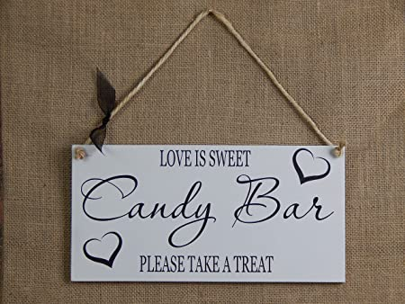 Candy Bar Cartel Colgante - Romantic boda/fiesta Shabby Chic ...