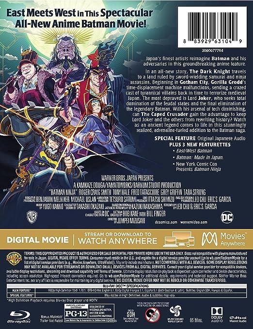 Amazon.com: Batman Ninja (Steelbook/Blu-ray): Leo Chu, Eric ...