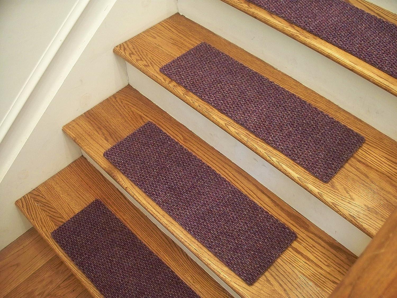 "Premium Carpet Stair Tread Sets Berber Lavender 24/"" x 8/"""