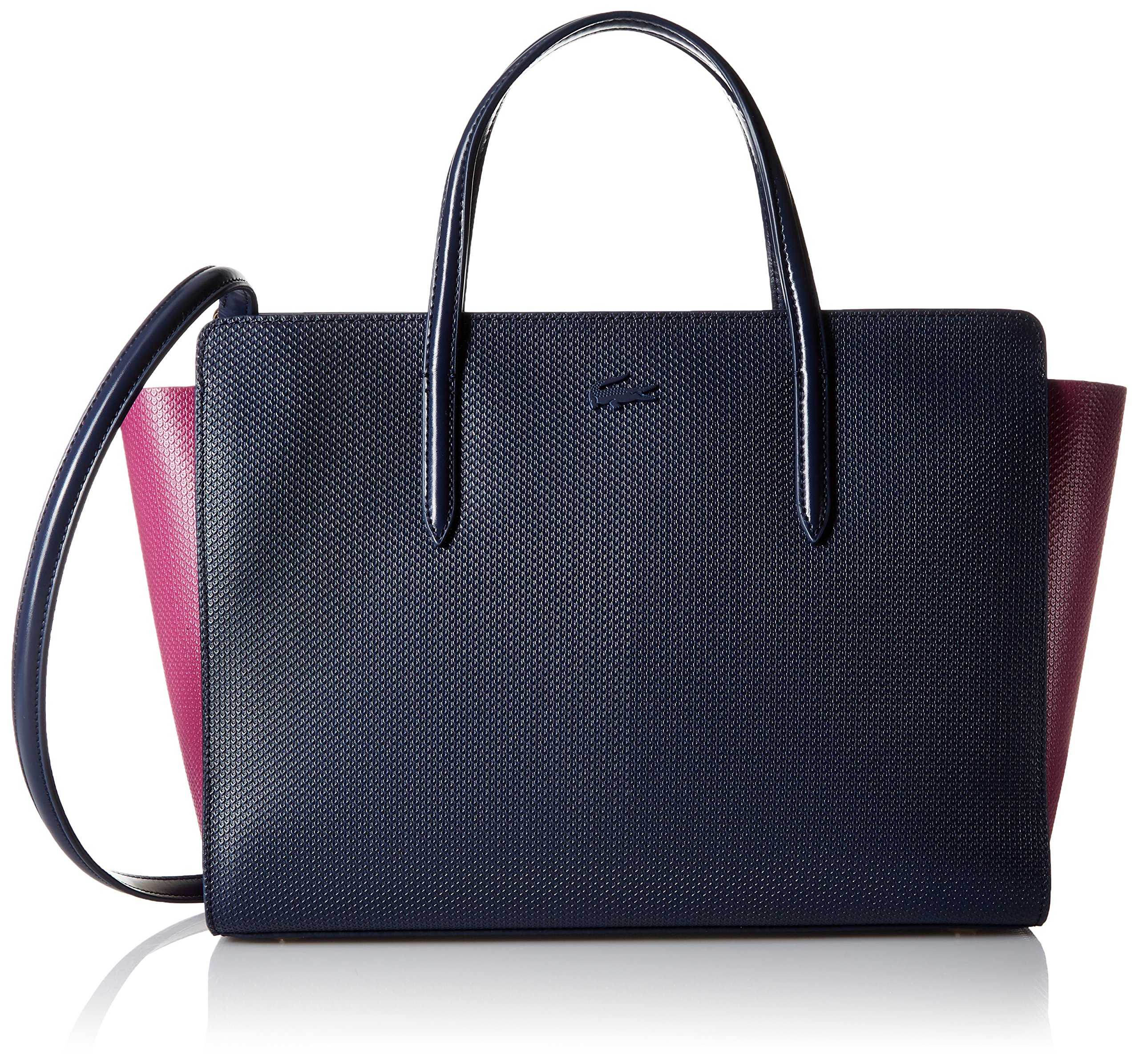 Lacoste Chantaco Color Block Shopping Bag, Peacoat/Boysenberry