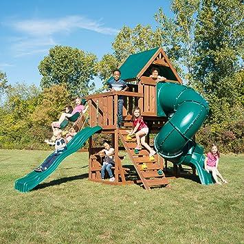 Amazon Com Swing N Slide Ws 8358 Denali Tower Swing Set With Two