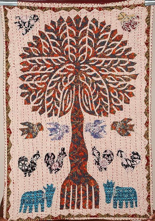 Indio tapiz de pared hecho a Patchwork de árbol de la vida, manta ...