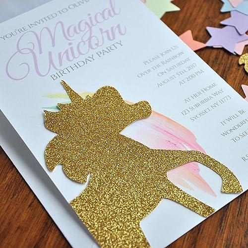 Amazon Unicorn Invitations Birthday We
