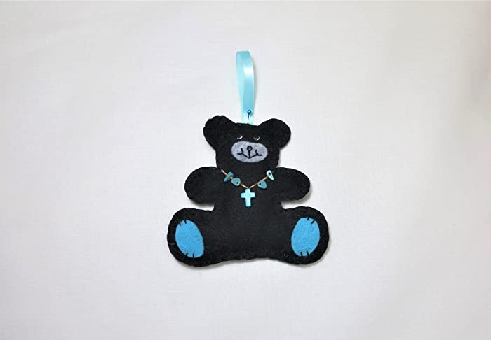 d20bf1c8e7595 Amazon.com  HANDMADE TEDDY BEAR CHRISTMAS ORNAMENT - Home Decor ...