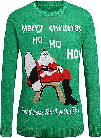 SSLR Jersey Súeter Navideño con Decoración de Navidad de Lana para Hombre: Amazon.es: Ropa y accesorios