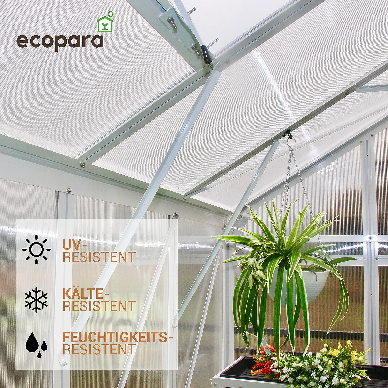 50 x Invernadero Clips – planta resistente a los golpes Soporte hasta 30 kg – aufhängev de elevación ojales para invernadero – Excelente pérgola – gratis eBook: Amazon.es: Jardín