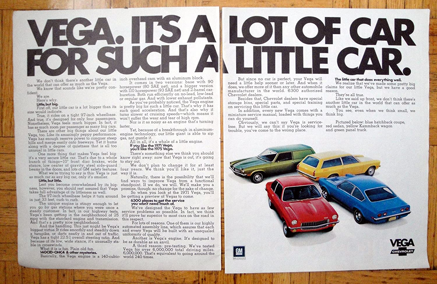 Shipping A Car/page/2 >> Amazon Com 1971 Chevrolet Vega A Lot Of Little Car