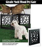 DIE-CUT 3 PANEL ADJUSTABLE WOOD PET GATE
