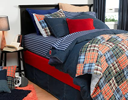 a542d3c5e Amazon.com: Tommy Hilfiger All American Denim Bedding Collection(Old ...