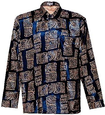 e93bf40863e THAI SILK Men s Shirt Short Sleeve Bar Pattern at Amazon Men s Clothing  store