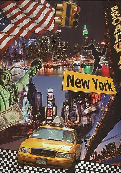 NEW YORK BRODAWAY-Archivador 4 anillas, polipropileno, diseño de ...