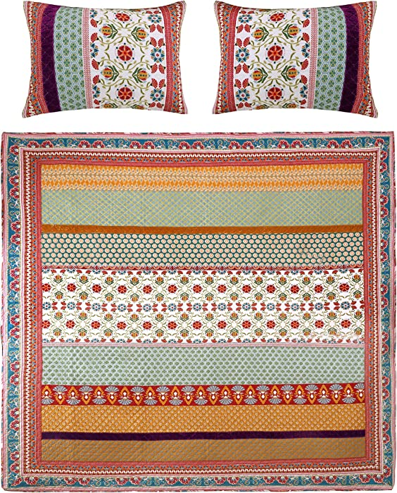 Greenland Home Thalia Quilt Set, 3-Piece Full/Queen