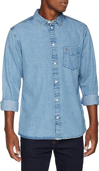 Tommy Hilfiger Clean Camisa vaquera, Azul (Mid Indigo 412), XX-Large para Hombre: Amazon.es: Ropa y accesorios