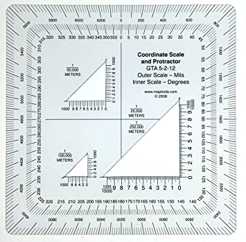Military Style Utm Mgrs Coordinate Scale