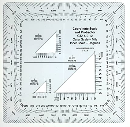 Amazoncom Military Style UTMMGRS Coordinate Scale Outdoor - Mgrs maps for sale