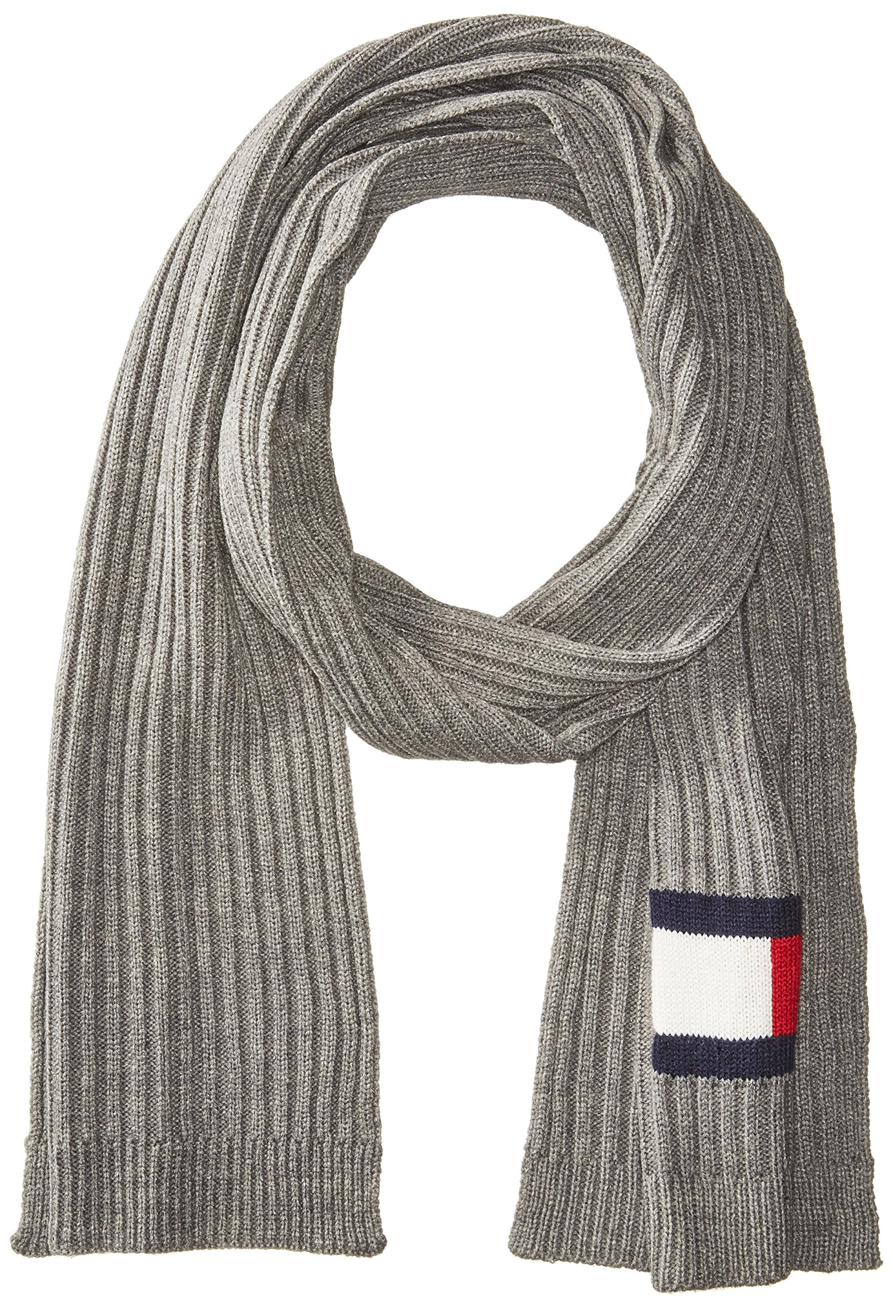 Tommy Hilfiger Men's Winter Scarf, Silver, OS