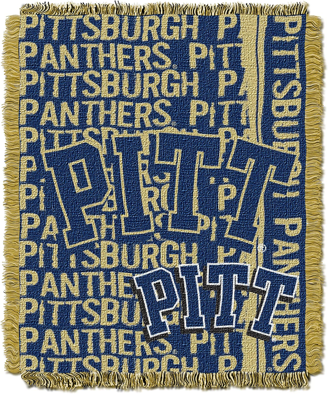 Officially Licensed NCAA Double Play Triple Woven Jacquard Throw Blanket 48 x 60 Multi Color