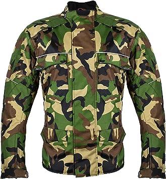 HEYBERRY Motorrad Jacke Motorradjacke Camouflage Woodland Gr XL