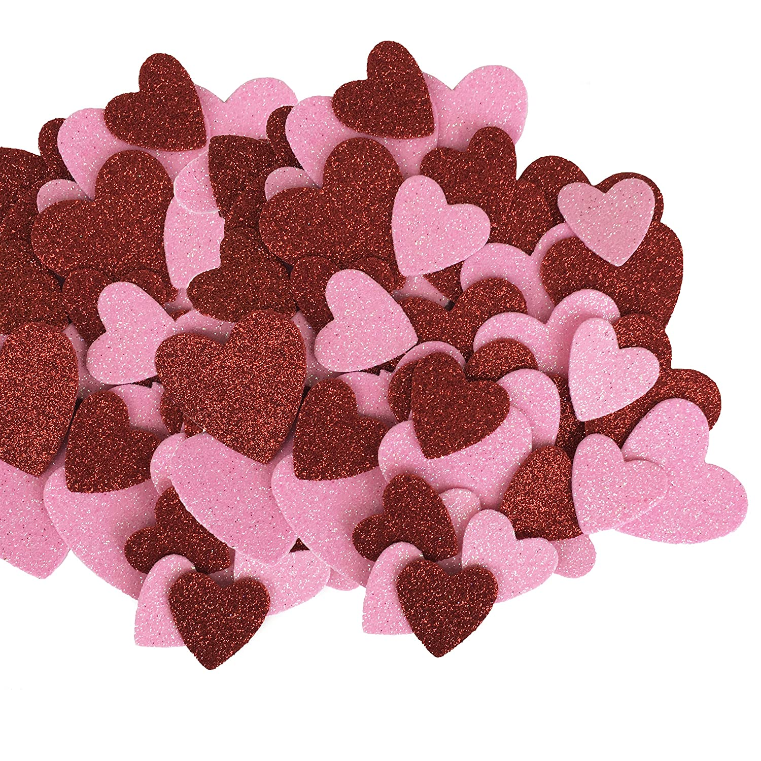 Red & Pink Glitter Hearts Table Scatter - Valentines, Weddings, Crafts Greenbrier 4336865685