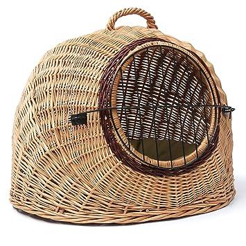 Amazon.com: Prestige Igloo – Pet Carrier cesta de mimbre ...