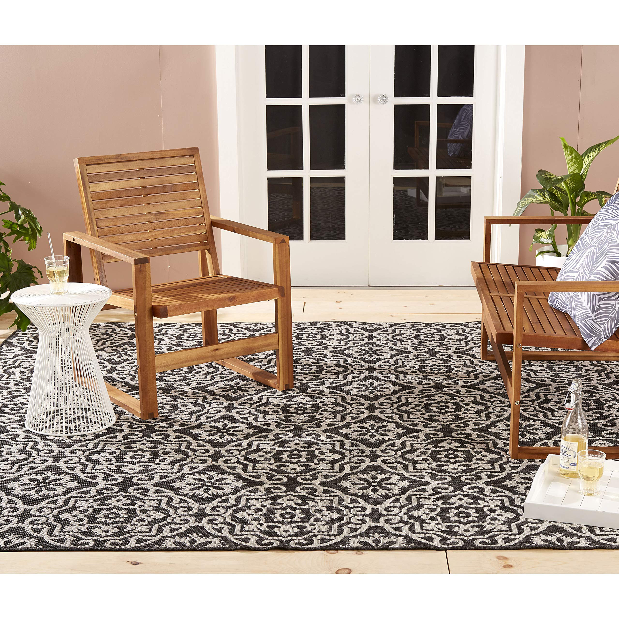 Home Dynamix Nicole Miller Patio Country Danica 7'9'' x10'2 Indoor/Outdoor Area Rug Black/Gray