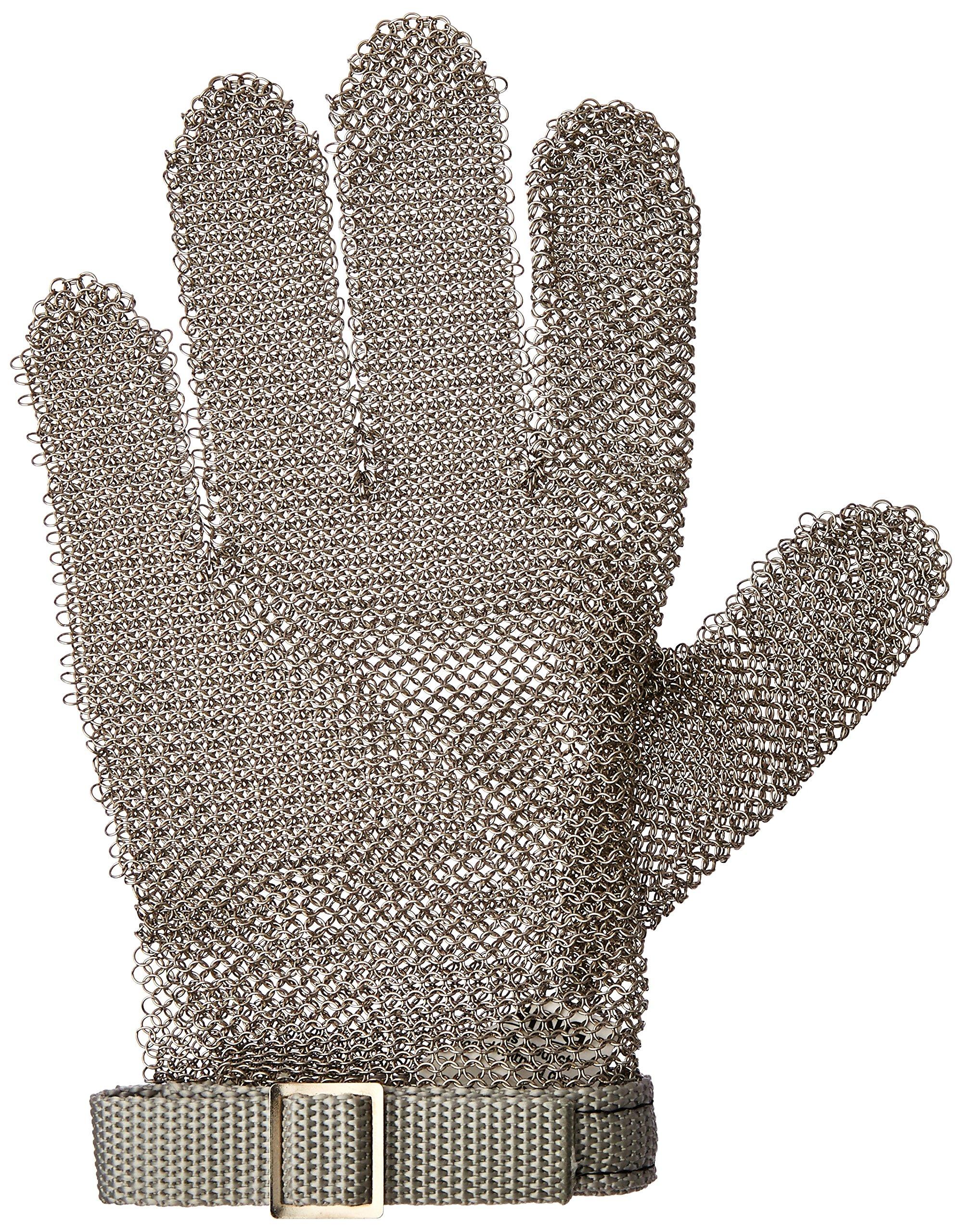 San Jamar MGA515XS Steel Mesh 5 Finger Cut-Resistant Gloves, X-Small