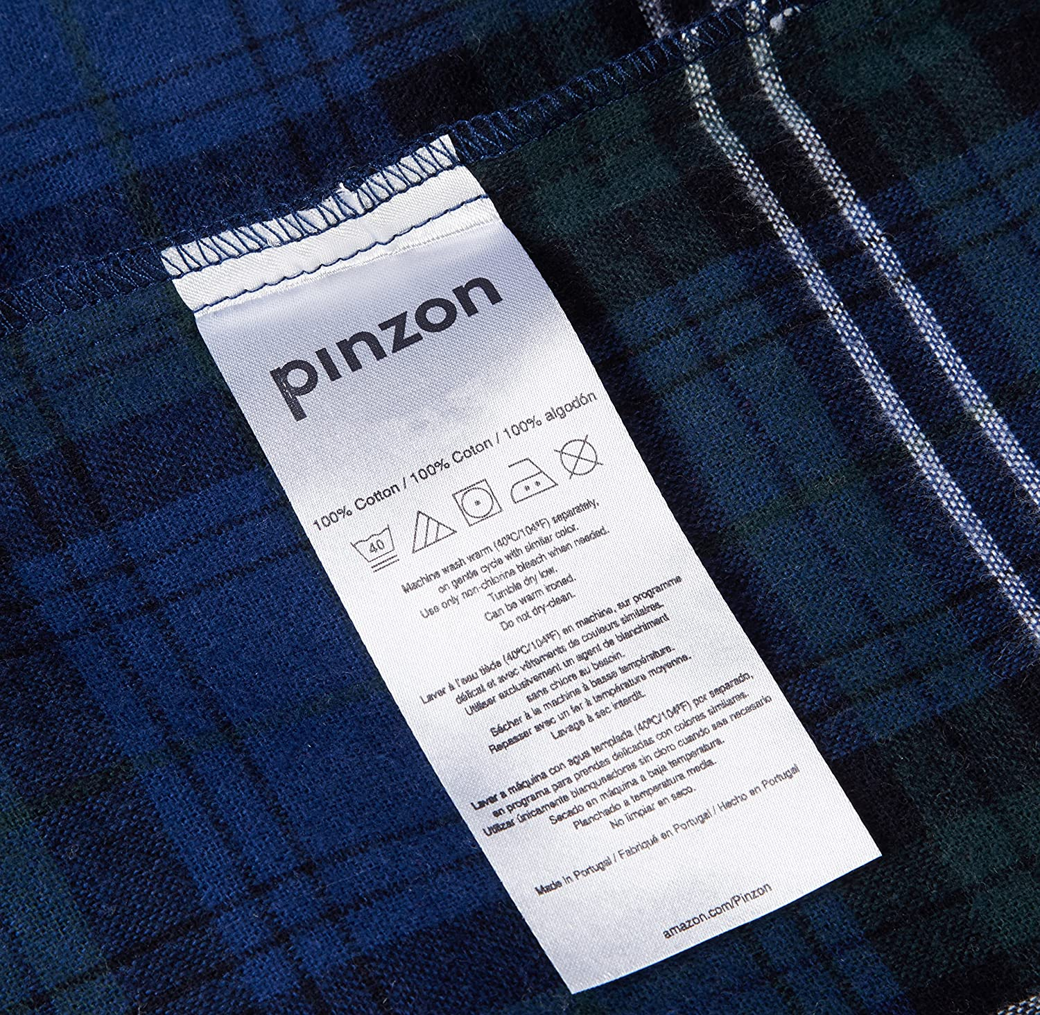 Pinzon 160 Gram Plaid Flannel Pillowcases - King, Blackwatch Plaid - PZ-PLFLAN-BWP-KPC