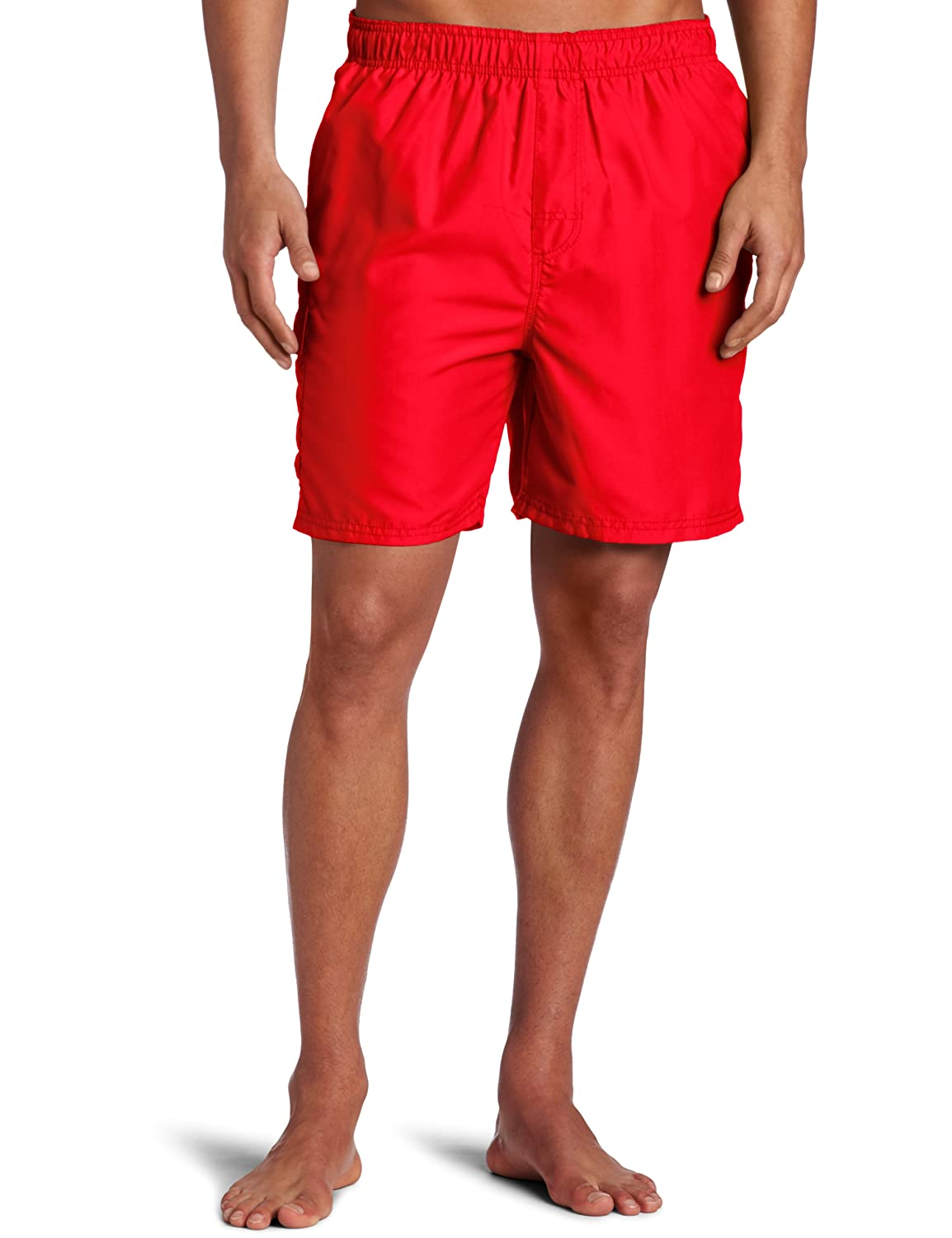 Kanu Surf Men's Havana Elastic Waist Solid Swim Trunk Kanu Surf Men' s Swimwear 7067