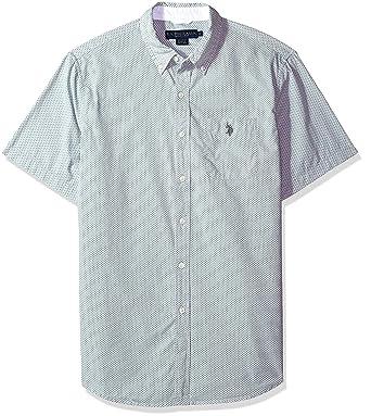 U.S. Polo Assn. Hombre Manga Corta Camisa de Botones: Amazon.es ...