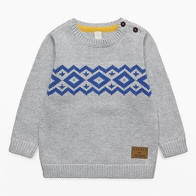 0187369684 ESPRIT KIDS Baby-Jungen Pullover RK18082, Grau (Light Heather Grey 221),