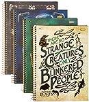 Caderno Universitário Animais Fantásticos: Os Crimes de Grindewald  01 Matéria com 96 Folhas Capa Dura, Pacote com 04...