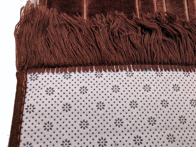 Prayer Mat SOFT Padded Islamic Muslim Janamaz Sajadah Carpet Brown