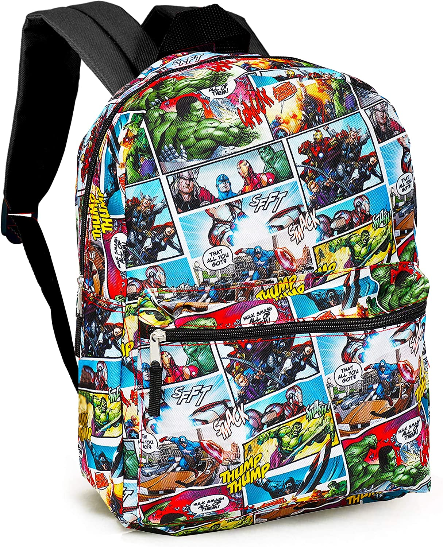 Avengers School Supplies Marvel Avengers Backpack for Boys Girls Kids 16 Marvel Comics Avengers School Backpack Bag Bundle with Stickers