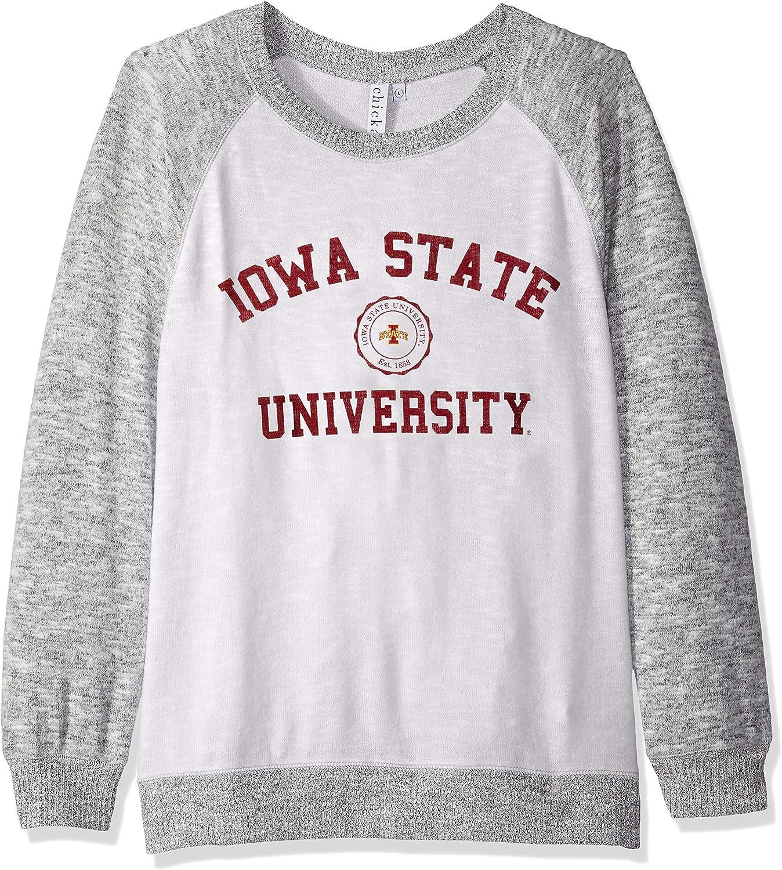 chicka-d NCAA womens Cozy Crewneck Lightweight Sweatshirt