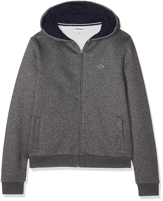 8dbba22460 Lacoste Sweat-Shirt de Sport à Capuche Garçon: Amazon.fr: Vêtements et  accessoires