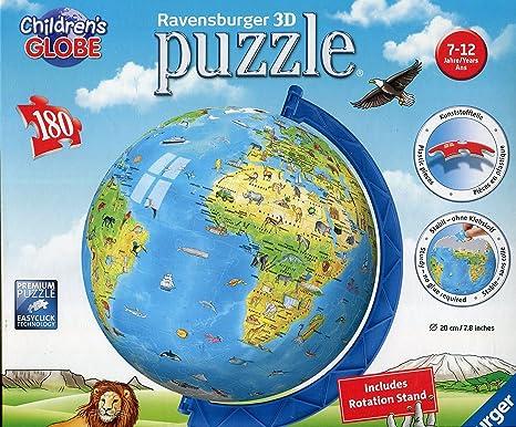 Amazon ravensburger childrens world globe 3d puzzle 180 pc ravensburger childrens world globe 3d puzzle 180 gumiabroncs Gallery
