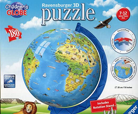 Ravensburger -Children's World Globe 3D Puzzle (180 pc)