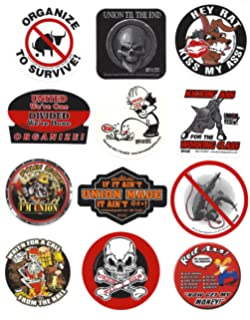 Funny Hard Hat & Helmet Stickers: 10 Decal Value Pack with Two American  Flags.