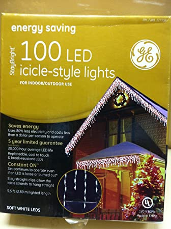 GE Energy Smart 100 LED Icicle-style Warm White Lights