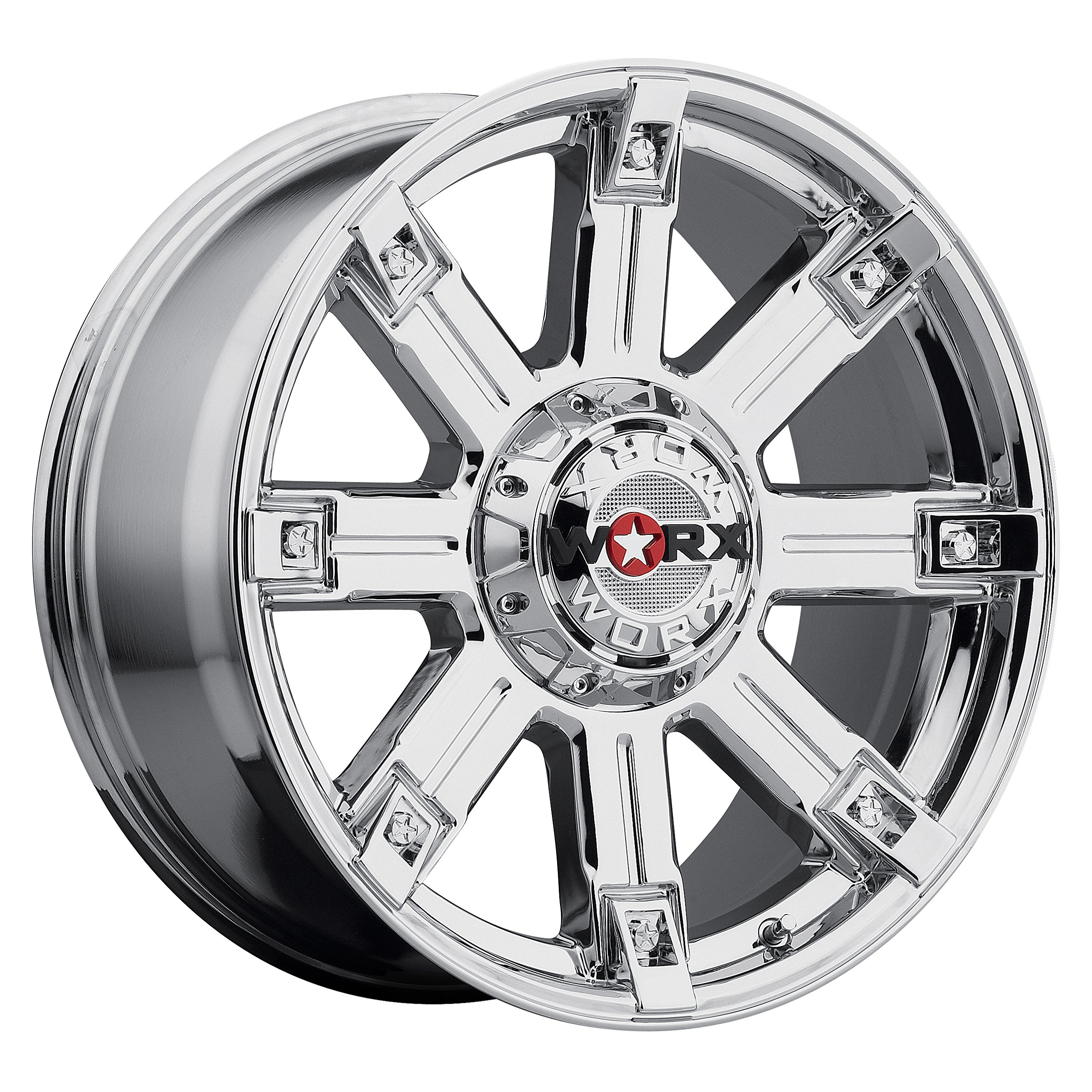 Worx 806V Triton Silver Wheel with Ultra PVD Finish  (18x9''/5x4.5mm, +12 mm offset) by Worx