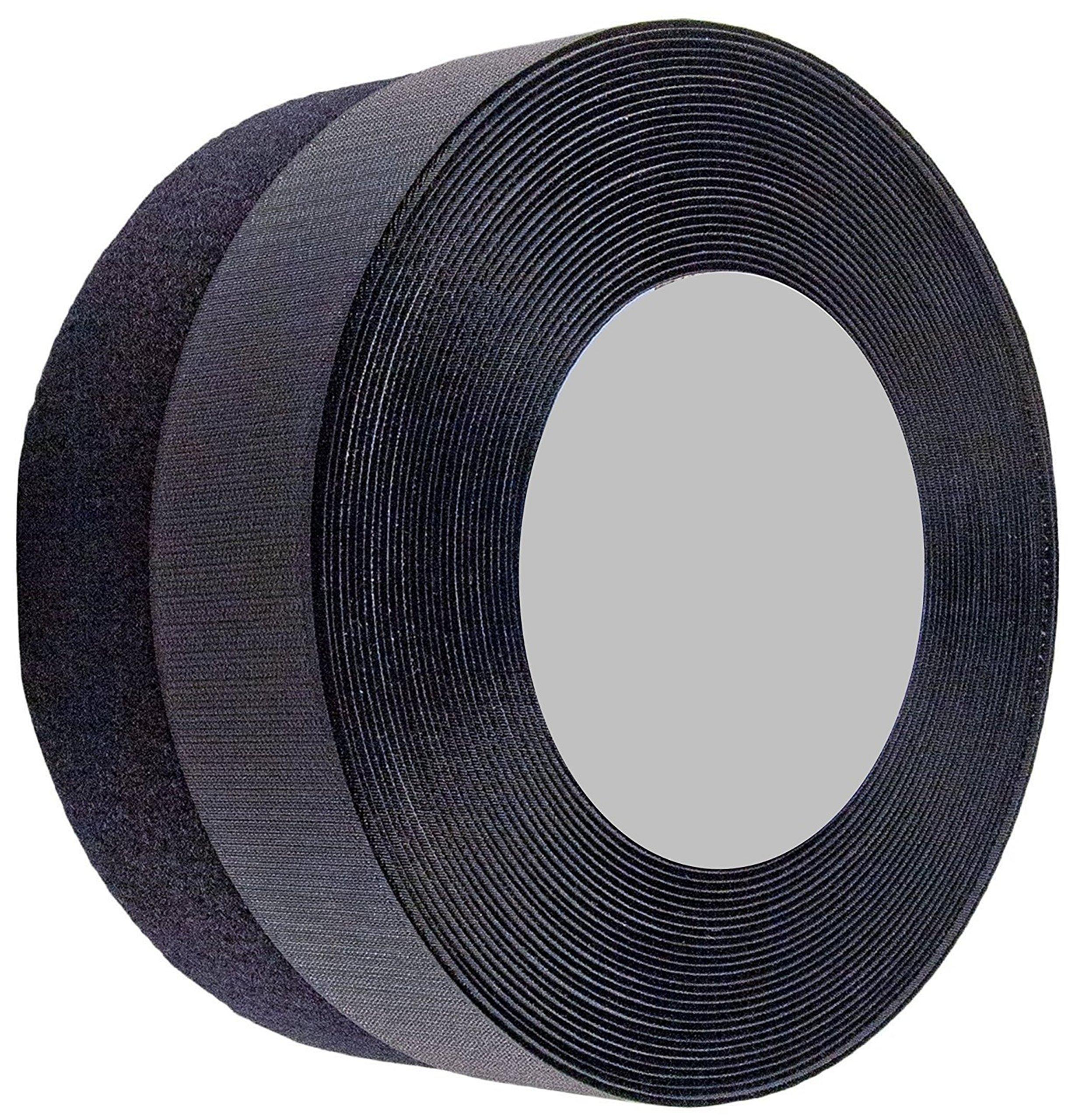 Sea Star 2 inch 26 Yards black Sew on Hook and Loop Sew On Fasteners(26 yards, black) by SeaStar